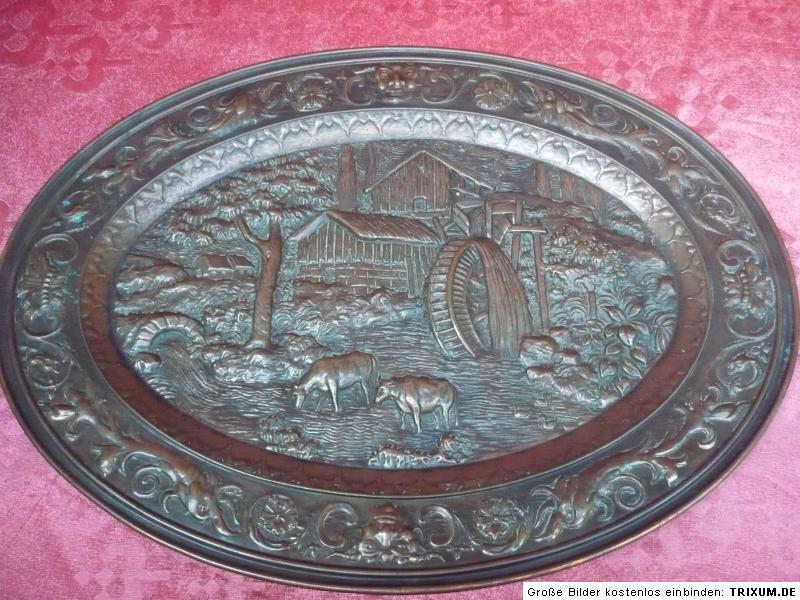 Bello vecchio piatto decorativo rame stile liberty for Rame vs cpvc per linee d acqua