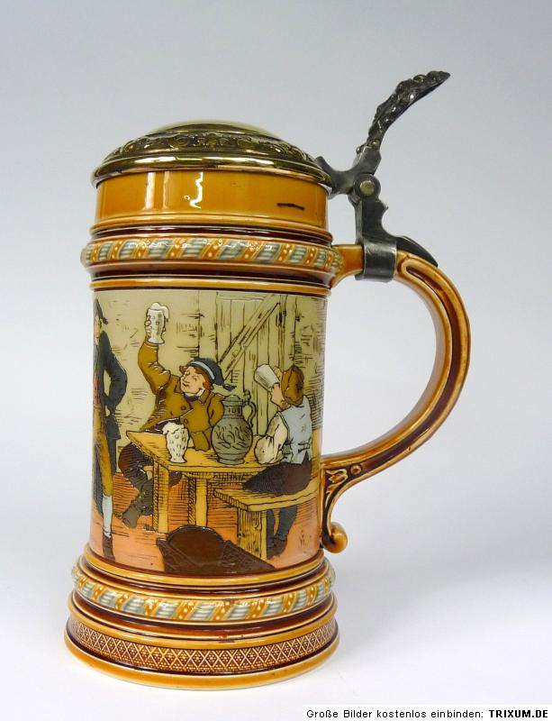 bierkrug krug mettlach villeroy boch christian warth. Black Bedroom Furniture Sets. Home Design Ideas