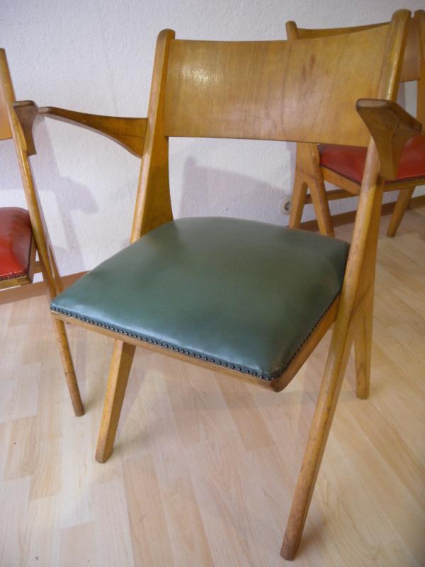 selten 4er satz 50er casala design st hle armlehnst hle. Black Bedroom Furniture Sets. Home Design Ideas