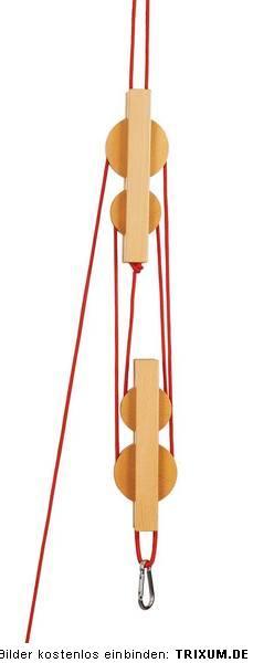flaschenzug f r spielturm aus holz 4 rollen seilzug. Black Bedroom Furniture Sets. Home Design Ideas