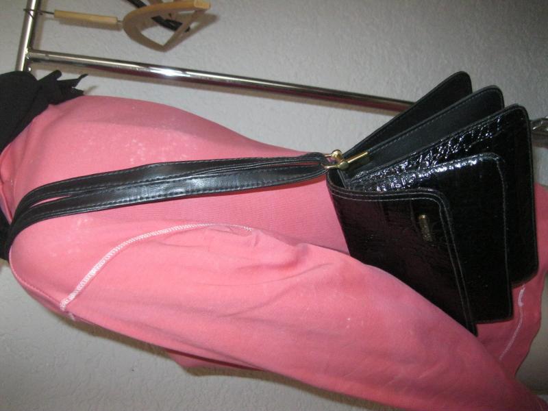 sch ne tasche schultertasche la toscana leder oder kunstleder kroko schwarz ebay. Black Bedroom Furniture Sets. Home Design Ideas