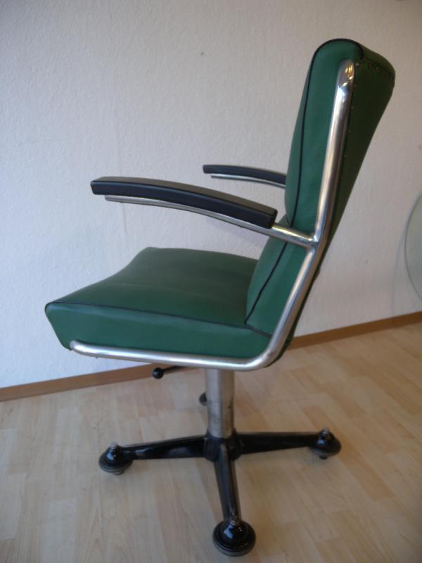 Seltener mauser rundform art deco stahlrohr schreibtisch for Sessel 40er design