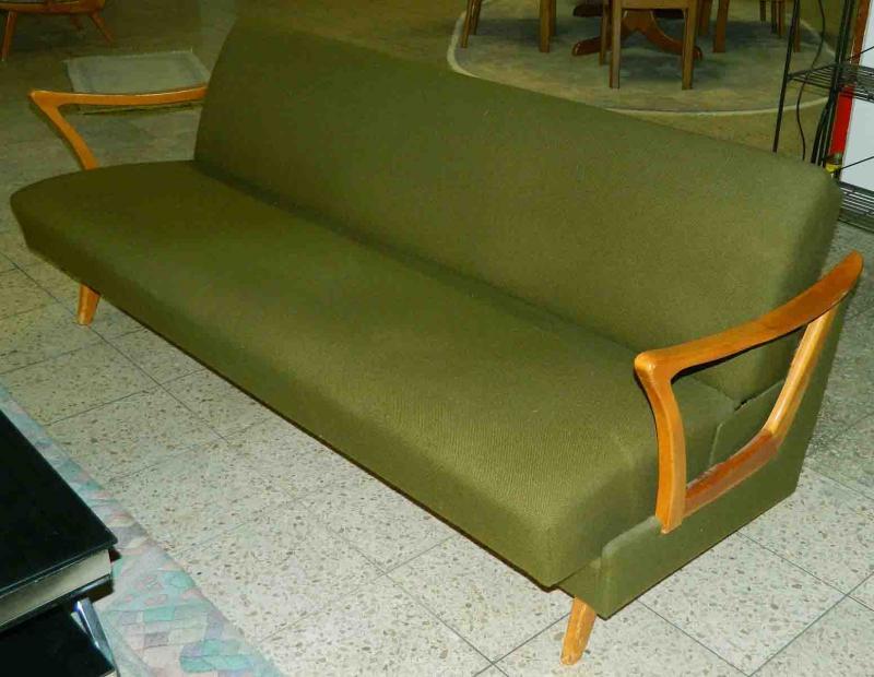daybed sofa couch klappsofa 50er 60er jahre top design bergisch gladbach ebay. Black Bedroom Furniture Sets. Home Design Ideas