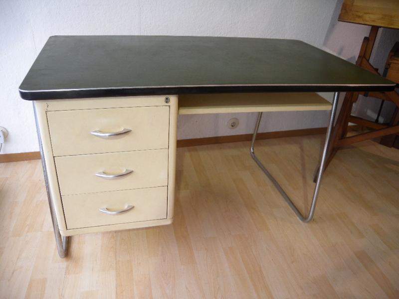 mauser schreibtisch stahlrohr m bel art deco desk bauhaus. Black Bedroom Furniture Sets. Home Design Ideas