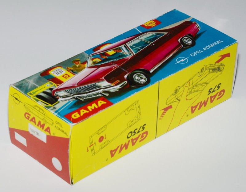 575 bzw 5750 Artikelnr. Reprobox für den GAMA Opel Admiral