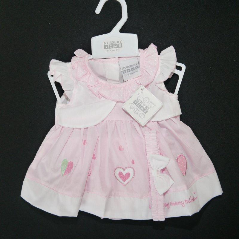 Mädchen Sommer Kleid   Herzen  Gr süßes 3 tlg 56,62,68