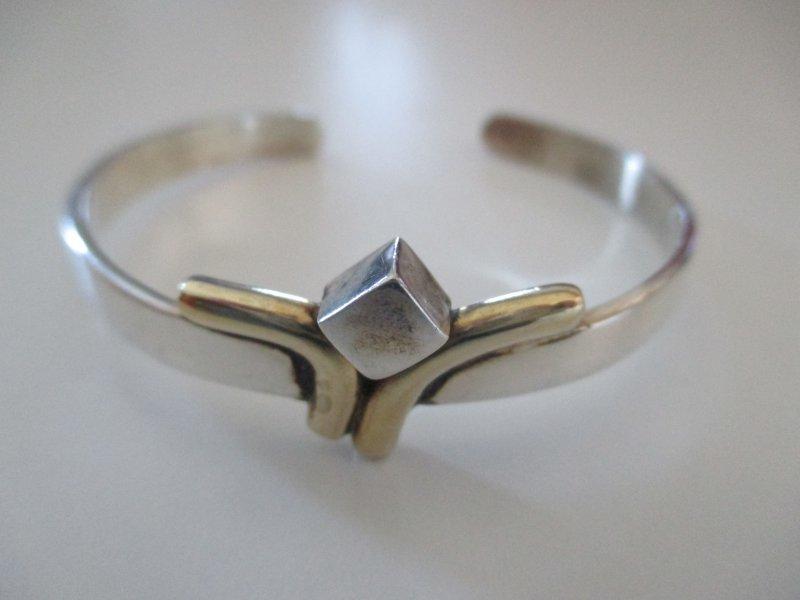 Details zu SILBER ARMREIF ° 925 1000 ° vergoldet ° offen ° Silberschmuck °