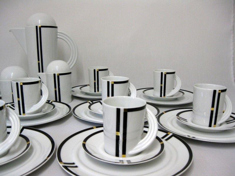 13221 rosenthal kaffeeservice 12 pers copula nera. Black Bedroom Furniture Sets. Home Design Ideas