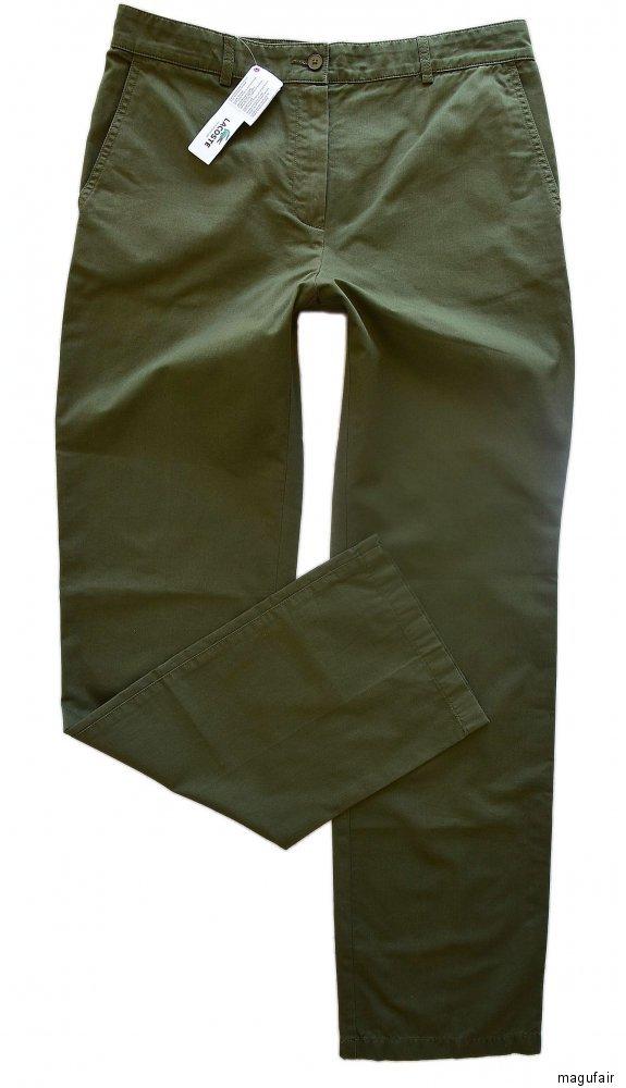 90 €!!! LACOSTE Business Pantaloni DONNA VERDE TG /> np:129 40 L Nuovo