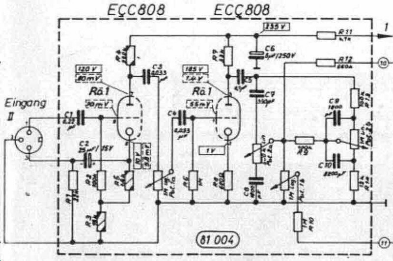 microphone  line tube preamplifiers with ecc808 diy