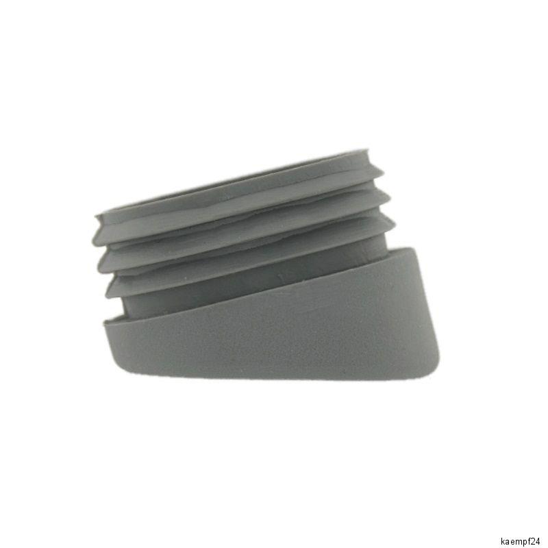 24 x Fussstopfen Ø 25mm grau rund Rohrstopfen Fusskappen Gartenstuhl Tisch Stuhl
