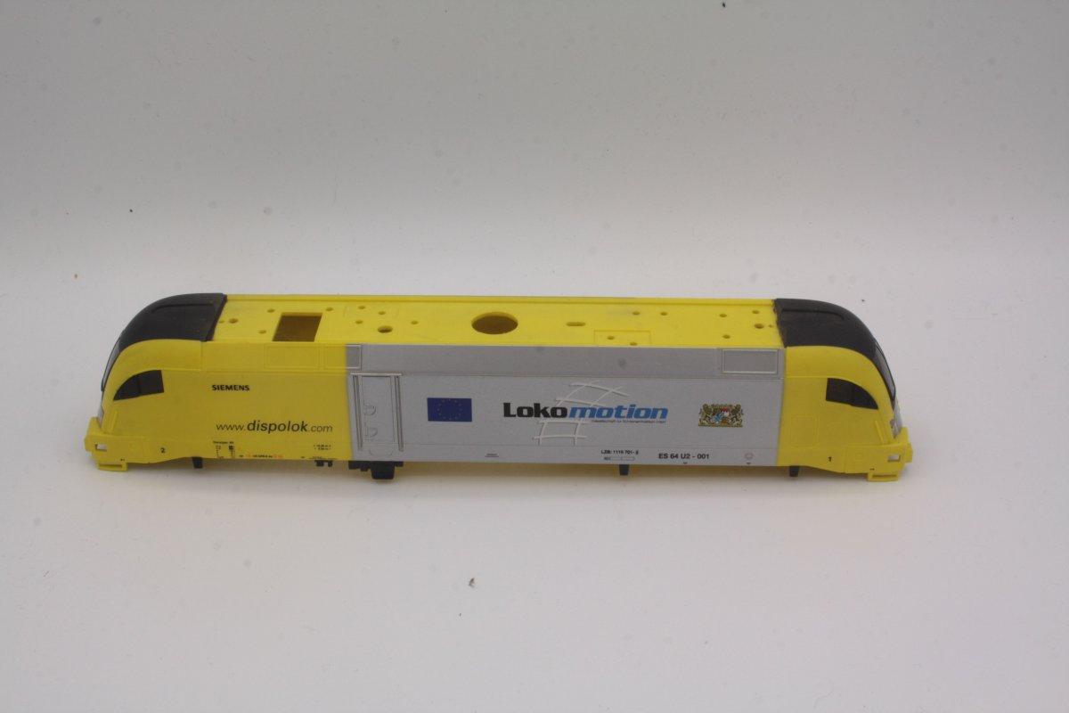 Ersatzteil Piko Taurus Gehäuse Dispolok ES 64 U2-002 gelb / silber Lokomotion