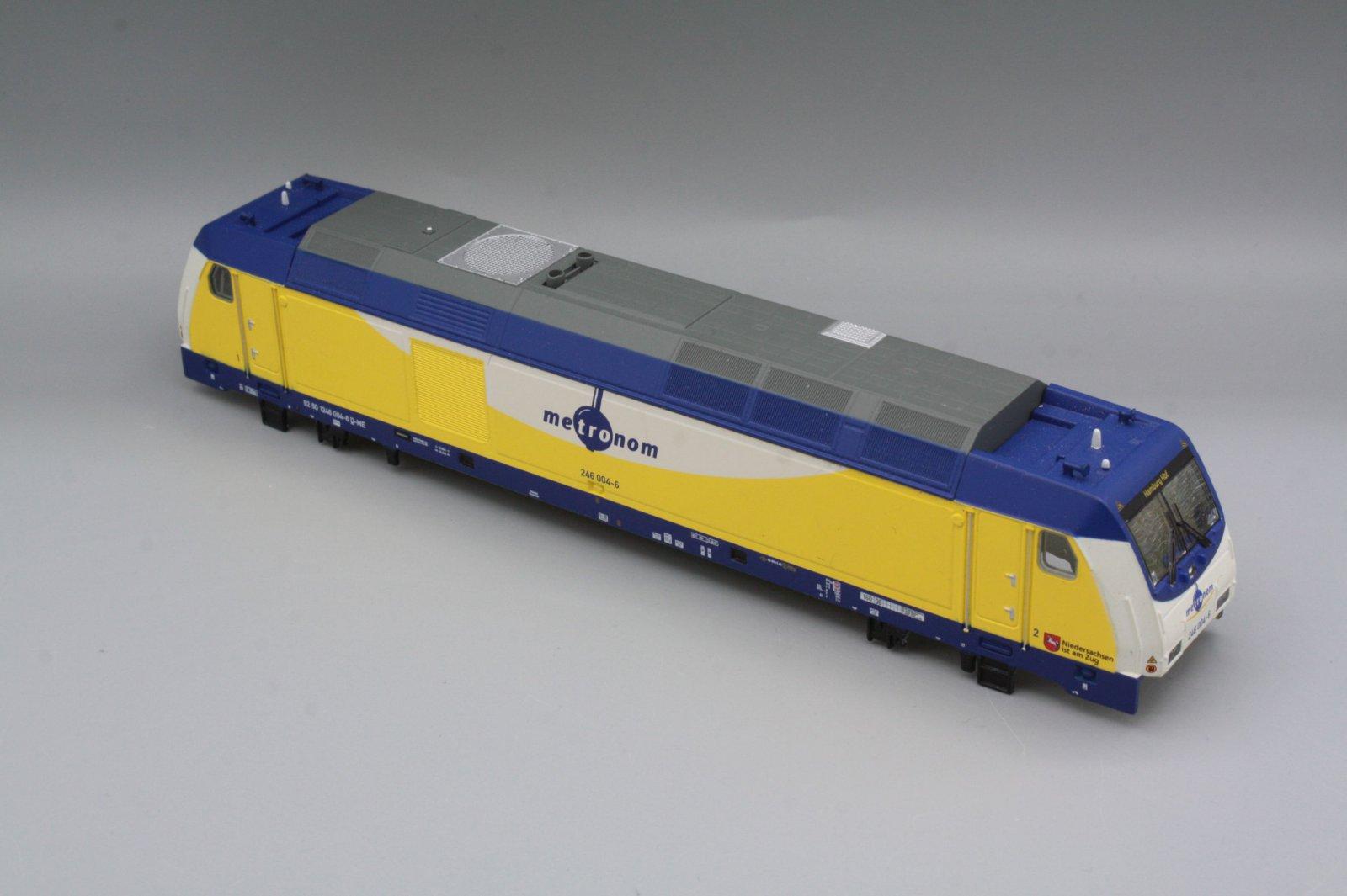 Ersatzteil Piko 246 004-6 Gehäuse weiß / blau Metronom mit Dach