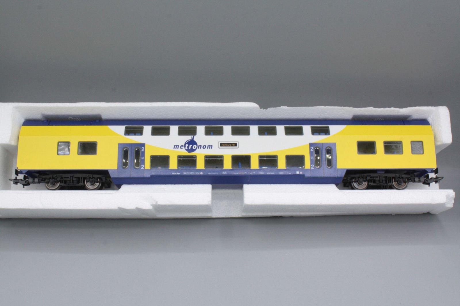 Piko H0 57602  2. Kl. Doppelstock-Sitzwagen DBpza Metronom 30014 (2)