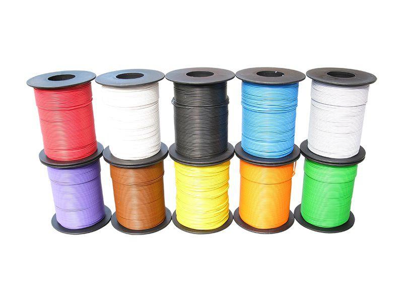 10 x 100 m LIY Kabel Litze Sparset 0,14 mm² flexibel Kupferlitze Schaltlitze