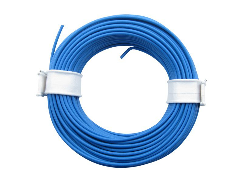 (0,13 €/m) 10 m Ring Litze blau 0,14 mm² Kupferlitze Schaltlitze Kabel