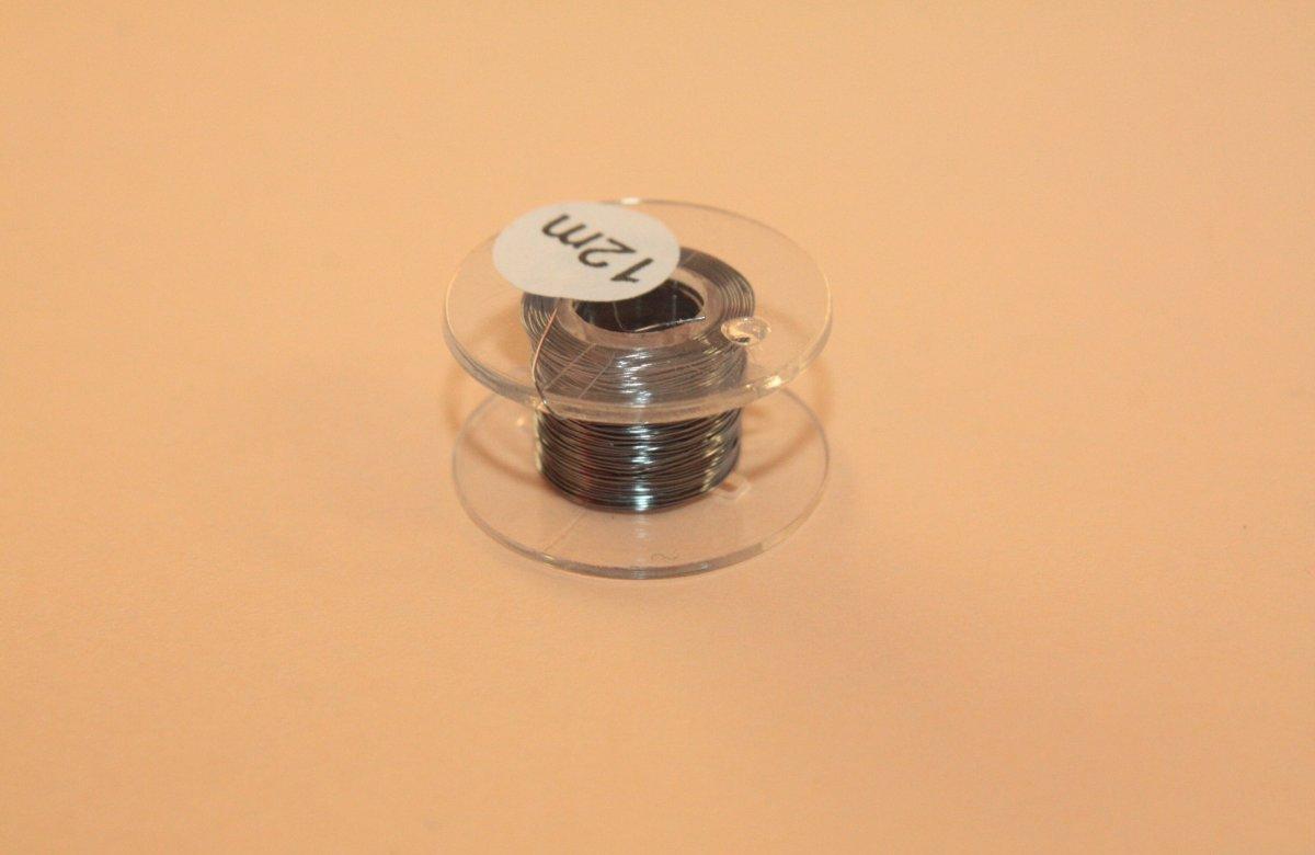 (0,20 €/m) 12 m Kupferlackdraht grau 0,15 mm Lackdraht Cu-Draht auf 12m-Spule