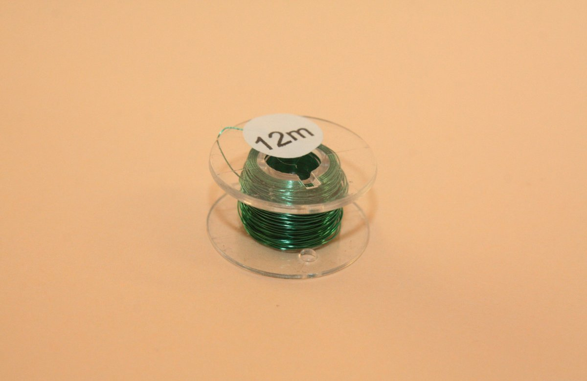 (0,20 €/m) 12 m Kupferlackdraht gruen 0,15 mm Lackdraht Cu-Draht auf 12m-Spule