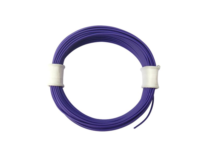 10 m Ring Miniaturkabel Litze flexibel LIVY lila 0,04 mm² Kupferlitze Kabel
