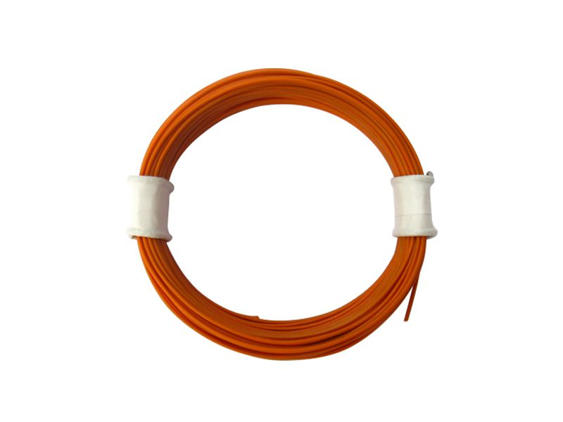 10 m Ring Miniaturkabel Litze flexibel LIVY orange 0,04 mm² Kupferlitze Kabel