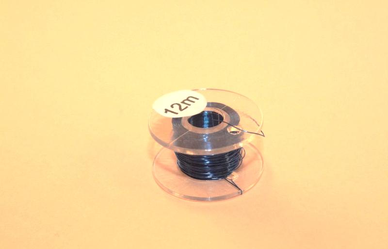 (0,20 €/m) 12 m Kupferlackdraht blau 0,15 mm Lackdraht Cu-Draht auf 12m-Spule