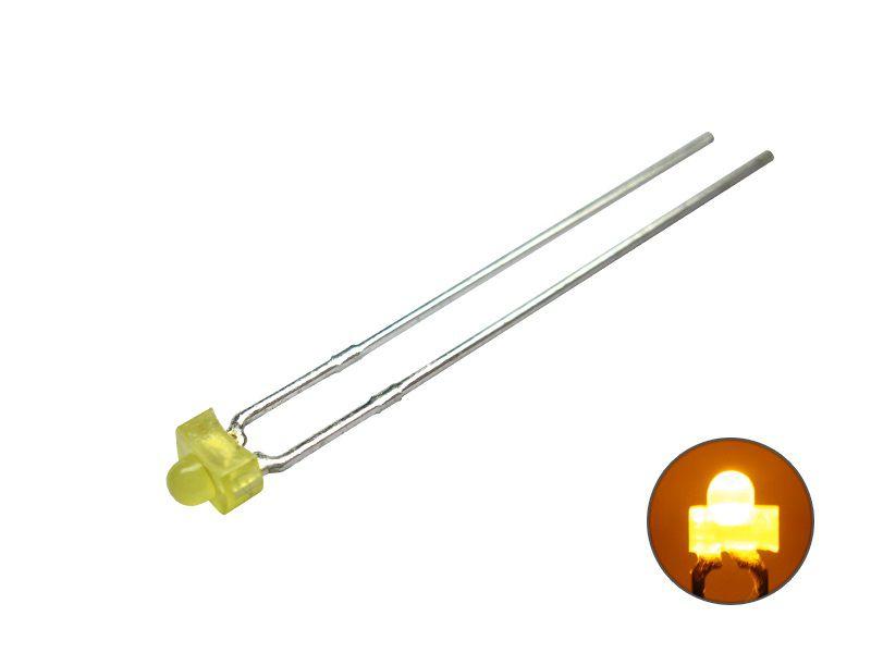 LED 1,8 mm - gelb 2,0 V diffus - Mini LED diffus Miniatur eingefärbtes Gehäuse
