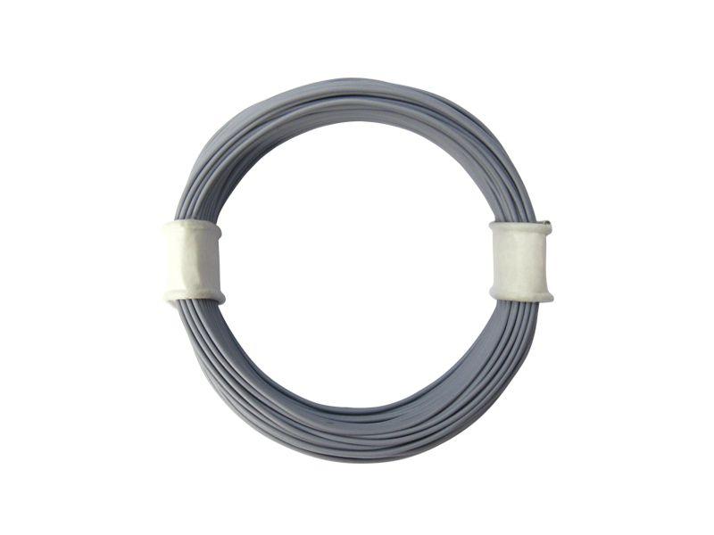 10 m Ring Miniaturkabel Litze flexibel LIVY grau 0,04 mm² Kupferlitze Kabel