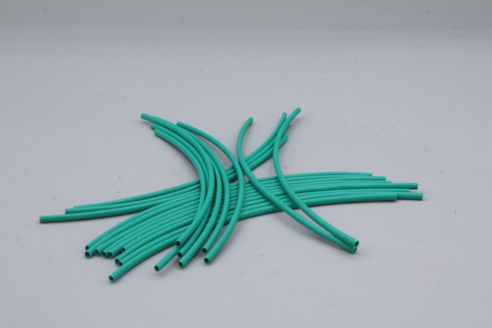 Schrumpfschlauch 1,6 mm grün 2 m in Stücken je 10 cm