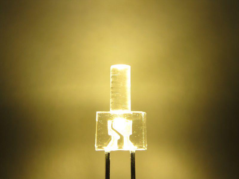 langer Kopf klar Tower-LED warmweiß 3,3V 20 x LED 2mm