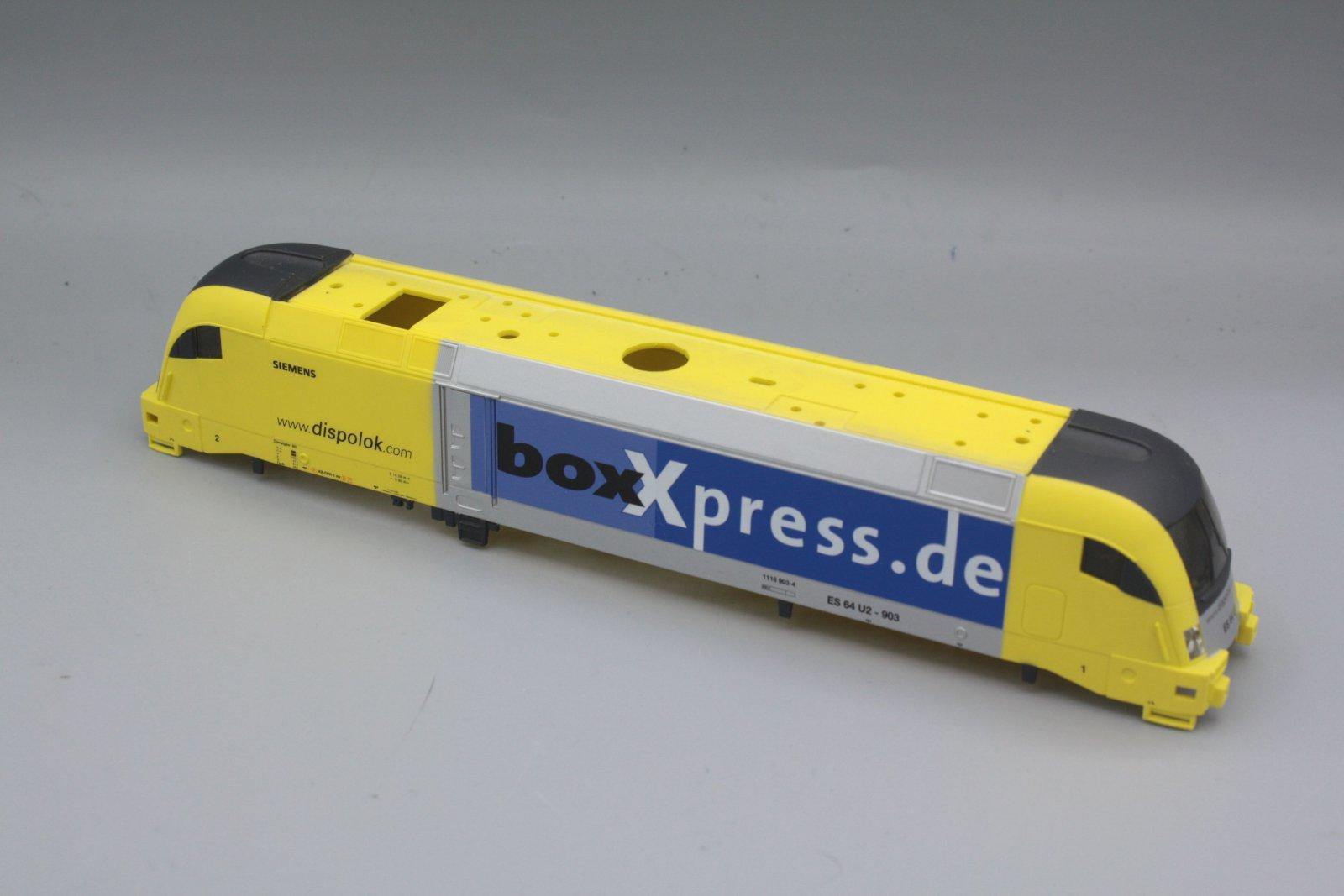 Ersatzteil Piko 182 Taurus Gehäuse Siemens Dispolok BoxXpress.de gelb blausilber