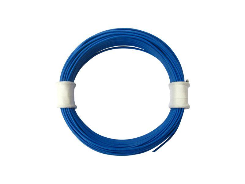 10 m Ring Miniaturkabel Litze flexibel LIVY blau 0,04 mm² Kupferlitze Kabel