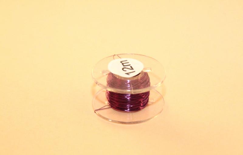 (0,20 €/m) 12 m Kupferlackdraht violett 0,15 mm Lackdraht Cu-Draht auf 12m-Spule