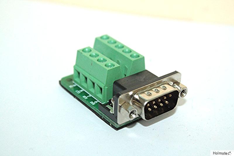 Sub D Anschlussplatine 9-polig  mit Stecker