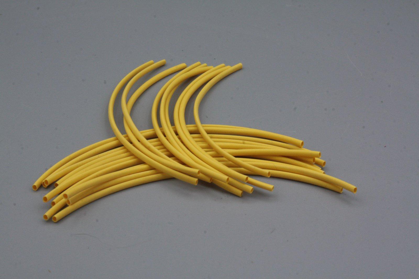 Schrumpfschlauch 1,2 mm gelb 2 m in Stücken je 10 cm