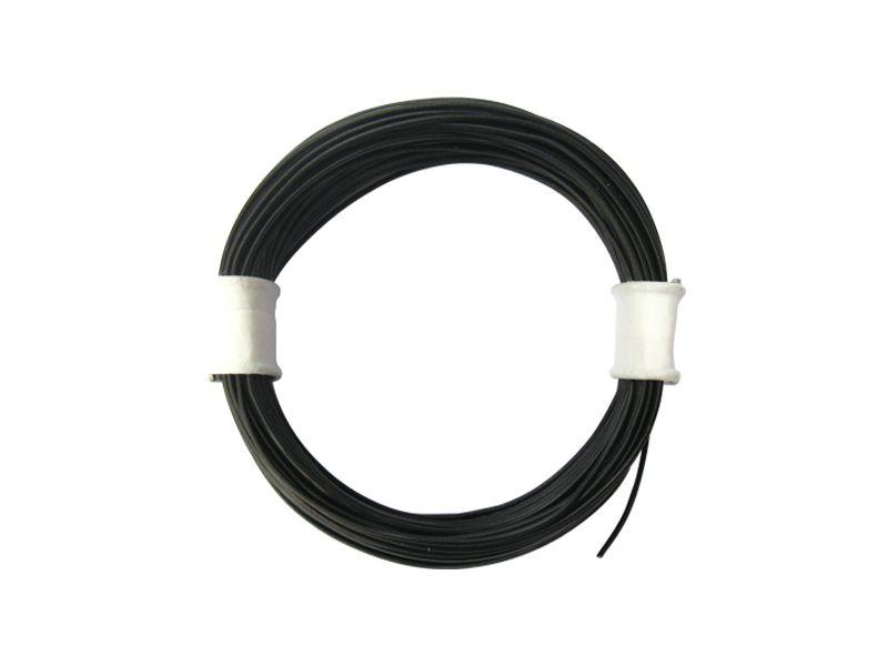 10 m Ring Miniaturkabel Litze flexibel LIVY schwarz 0,04 mm² Kupferlitze Kabel