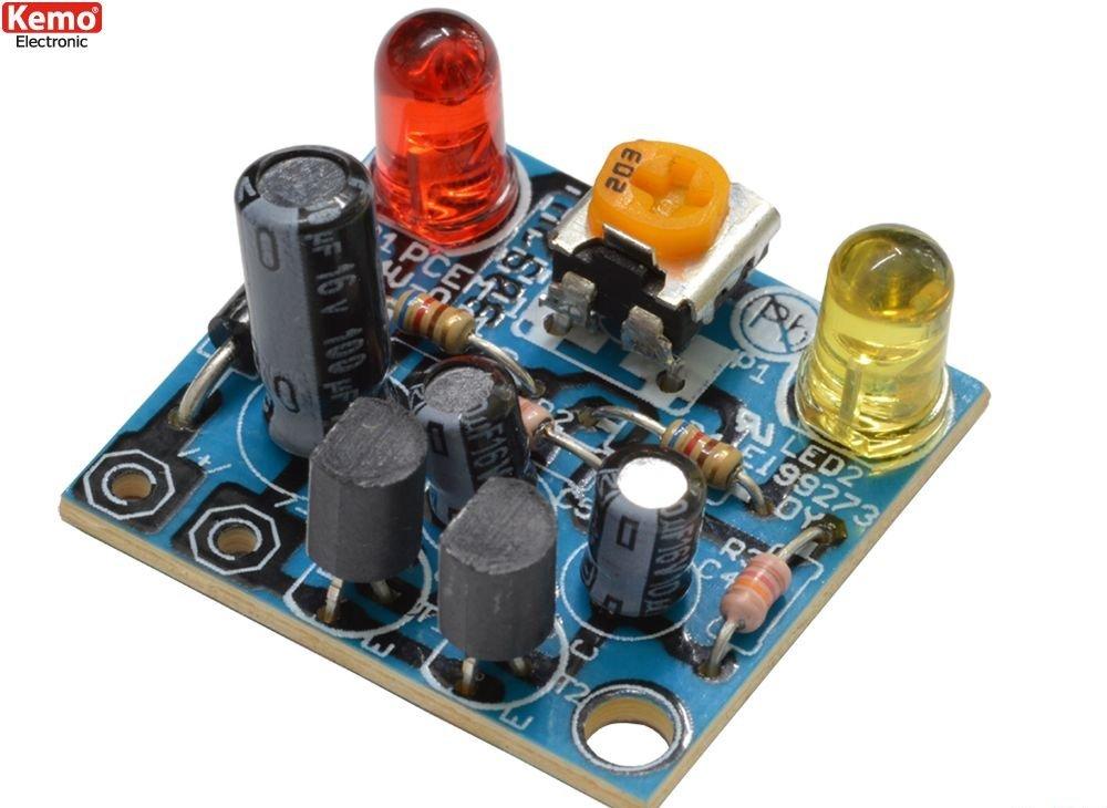 Kemo B092 LED Wechselblinker 6-12V DC Blinker z.B. LEDs Bahnübergang