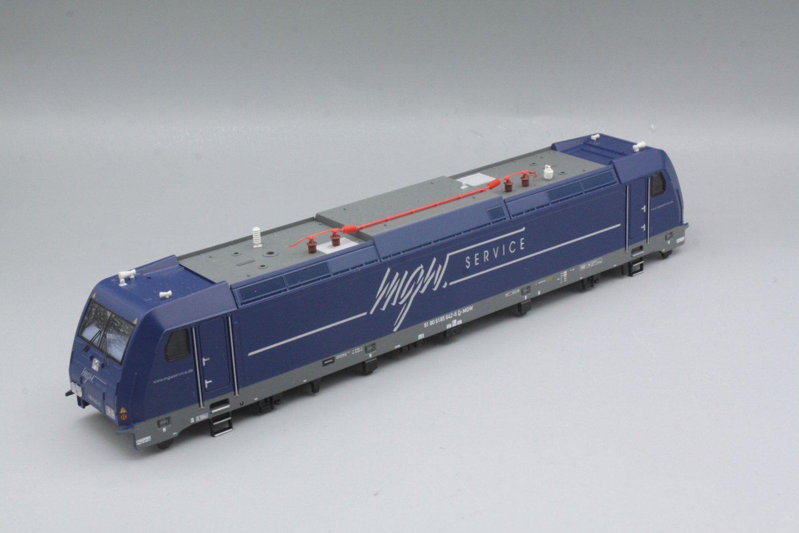 Ersatzteil Piko 185 642-6 Gehäuse mgw blau mit Dach, Fenstern, Führerstände