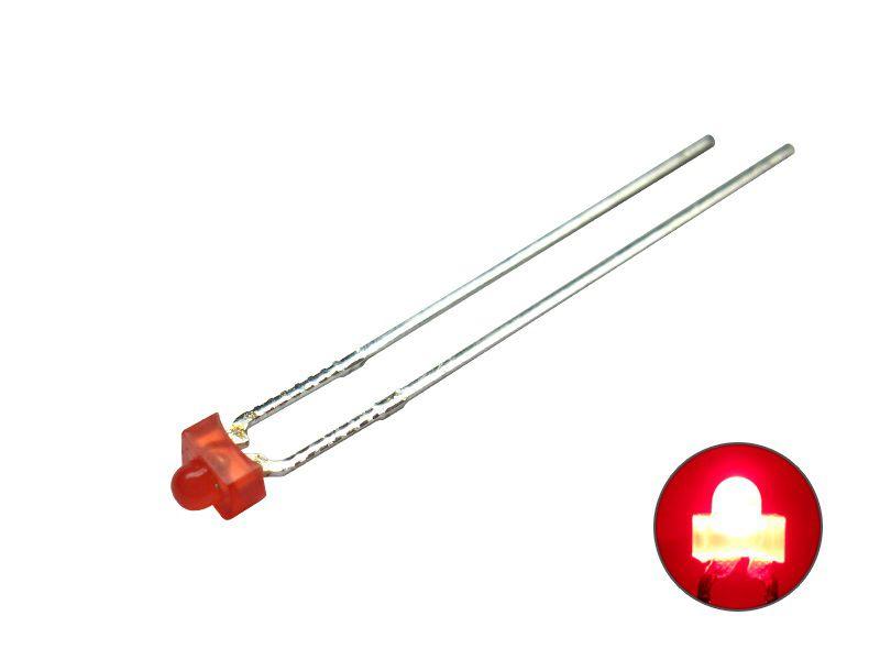 LED 1,8 mm - rot 1,8 V diffus - Mini LED diffus Miniatur eingefärbtes Gehäuse