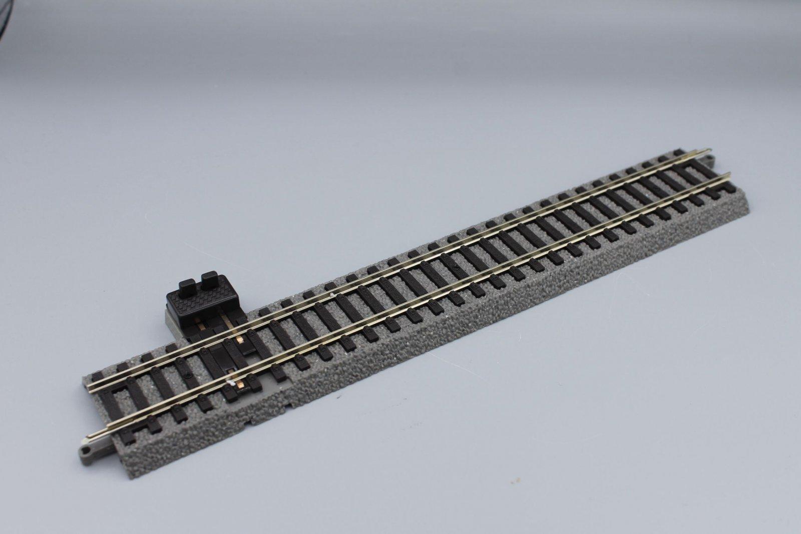 Piko 55406 + 55447  A-Gleis - Gerade G231 mit Bettung- 231mm + Anschlussclip
