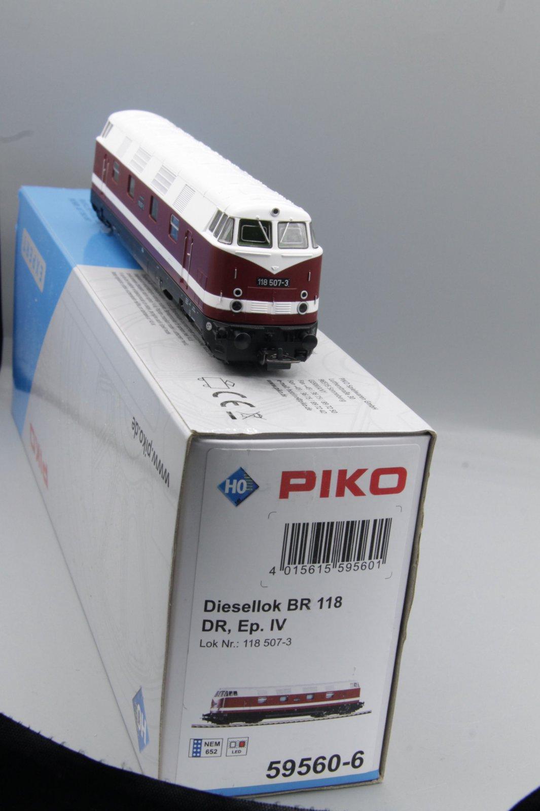 Piko 59560 Diesellok 118 507-3 Spur H0 - digital (D&H) mit Sound (Henning-Sound)
