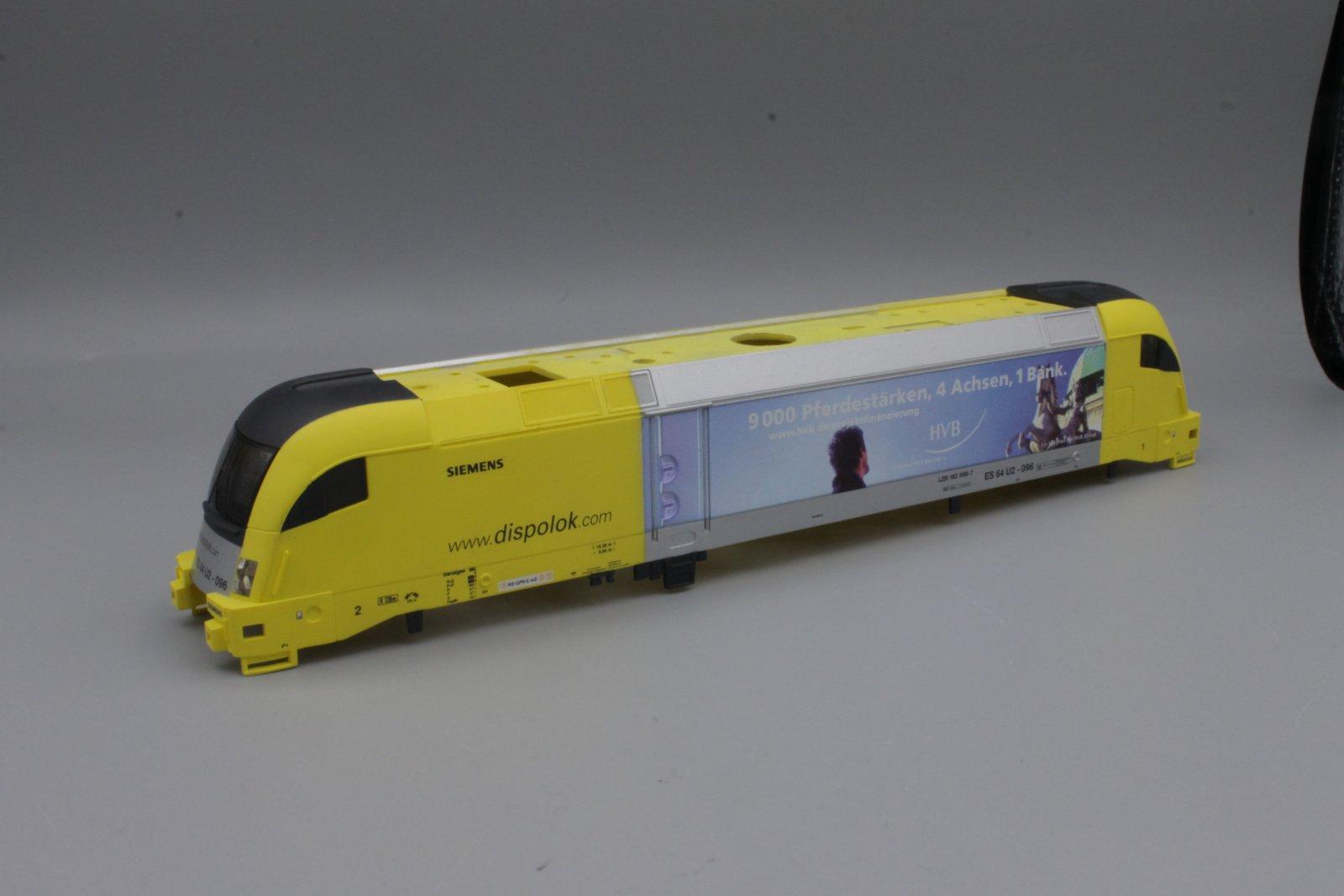Ersatzteil Piko 182 Taurus Gehäuse Siemens Dispolok HVB Bank gelb/silber