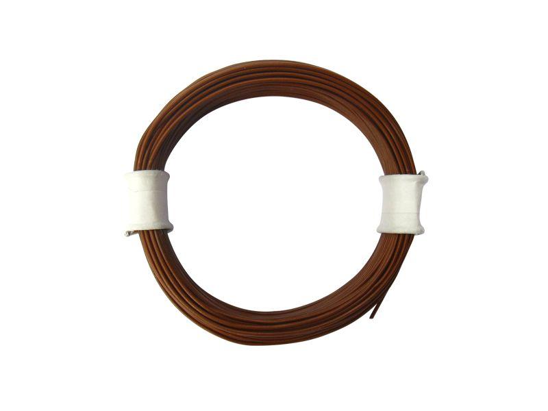 10 m Ring Miniaturkabel Litze flexibel LIVY braun 0,04 mm² Kupferlitze Kabel