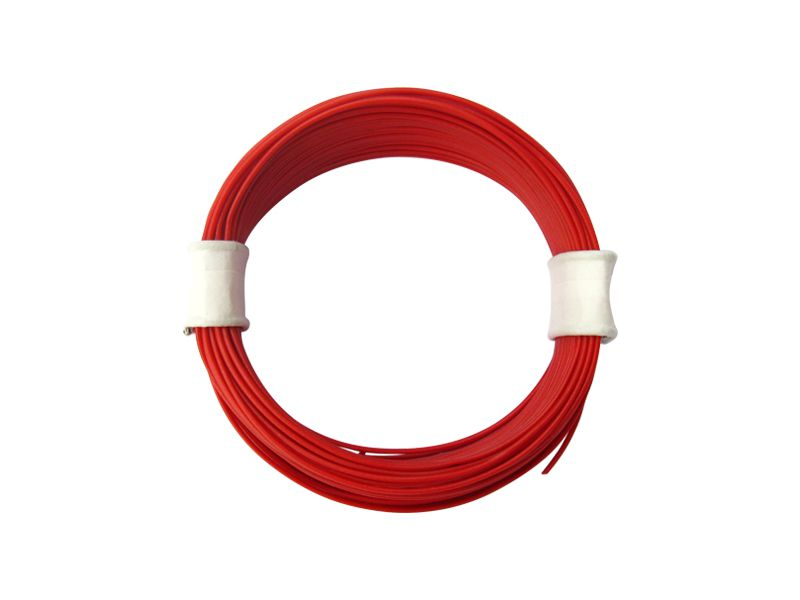 10 m Ring Miniaturkabel Litze flexibel LIVY rot 0,04 mm² Kupferlitze Kabel