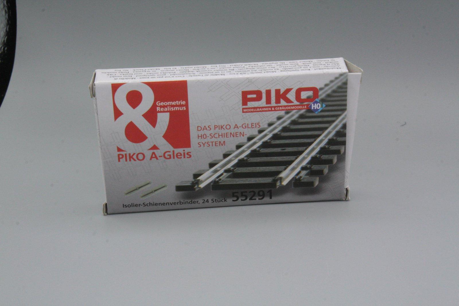 Piko 55291 H0-Isolier-Schienenverbinder Kunststoff 24 Stück - Neuware