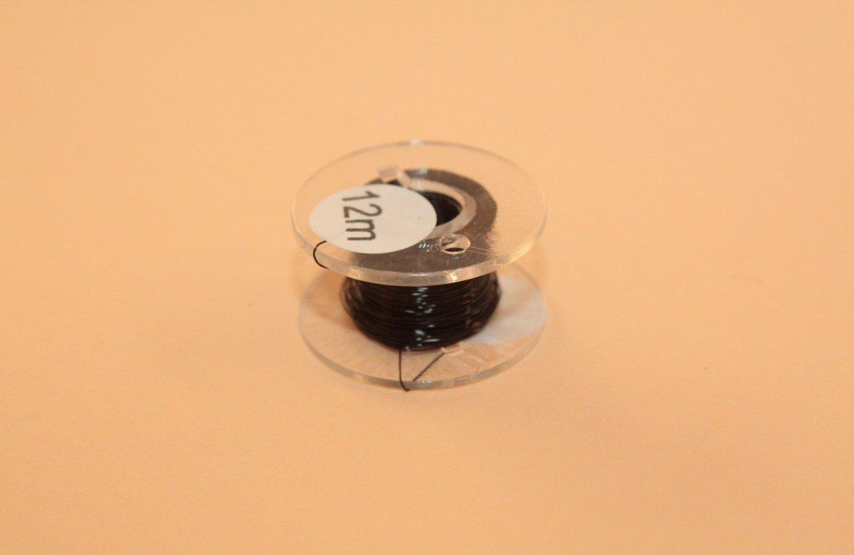 (0,20 €/m) 12 m Kupferlackdraht schwarz 0,15 mm Lackdraht Cu-Draht auf 12m-Spule