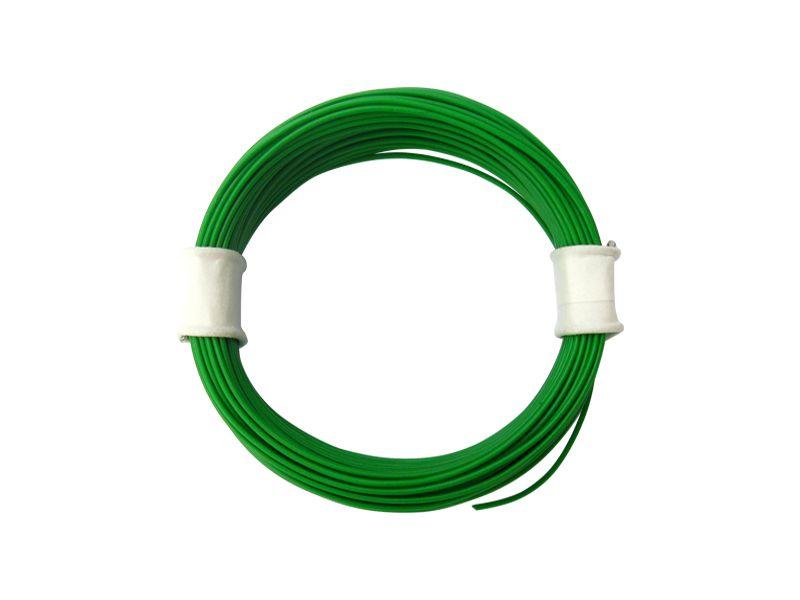 10 m Ring Miniaturkabel Litze flexibel LIVY grün 0,04 mm² Kupferlitze Kabel