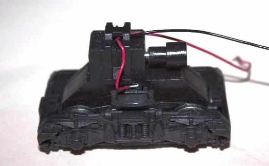 Ersatzteil Piko H0 218 Drehgestell schwarz - Variante 1