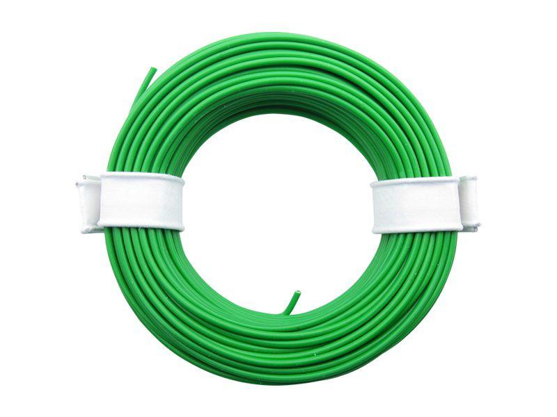 10 m Litze grün 0,14 mm² Kupferlitze Schaltlitze Kabel