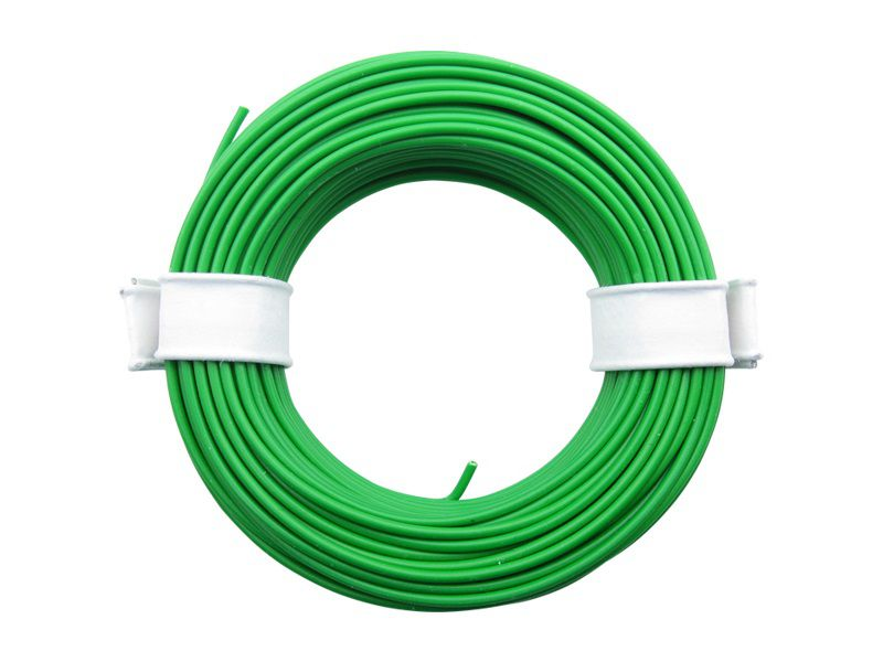 (0,13 €/m) 10 m Litze grün 0,14 mm² Kupferlitze Schaltlitze Kabel