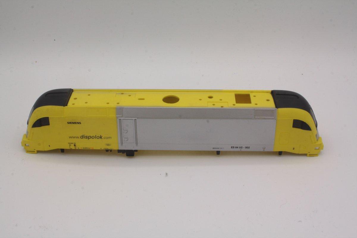Ersatzteil Piko 182 Taurus Gehäuse Dispolok ES 64 U2-002 gelb / silber ohne Werb